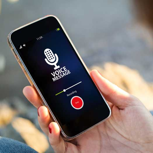 seecure voice message solution
